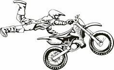 Motocross Cartoon Art | motocross vinyl decal $ 19 00