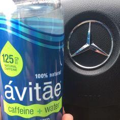 Who needs coffee anymore? #avitae #water #pure #mercedesbenz #hydrate #wakeup #fanphoto