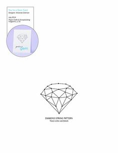 Diamond pattern. Use the printable outline for crafts