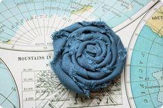 How to make a rolled fabric flower. via @Emily Schoenfeld Schoenfeld