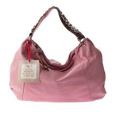 21cb5ff814173  595.00 Sofia C. Italian Designer Pink Leather Large Hobo Bag -