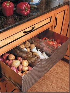 vegetable storage drawer.