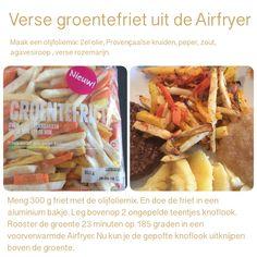 Verse groentefriet uit de Airfryer . 23 minuten, 185 graden. AK
