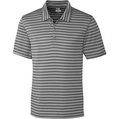 f08ac5f6e25 Cutter   Buck Men s CB DryTec Tilton Melange Stripe Golf Polo