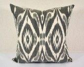 20x20 the white & black stripe of life design ikat pillow