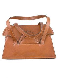 Vintage Leather Stitch Handbag, #ModCloth