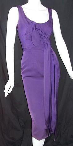1950s purple cocktail dress, Ceil Chapman, DCV archives