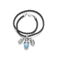 Turquoise Acorn Charm Chord Bracelet London Grace, Buckley London, Jewelry Bracelets, Bangles, Jewellery, Acorn, Contemporary Style, Costume Jewelry, Friendship Bracelets