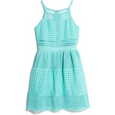 GUESS by Marciano Oversized Mesh Dress ($82) ❤ liked on Polyvore featuring dresses, aqua, aqua blue cocktail dress, special occasion dresses, oversized dress, mesh dress and blue dress
