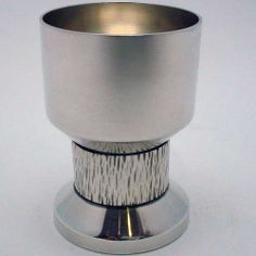 "SMALL CUP #1982, STERLING SILVER. DESIGNED BY BENT GABRIELSEN $400.00  Condition: fine vintage, preowned Year: 1982 Size: about 1 3/4"" in diameter by 2 1/2"" high"