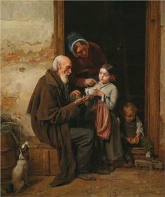 The charity  - Ferdinand Georg Waldmüller, c.1865, 119/122.