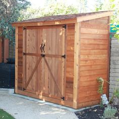SpaceSaver Wood Lean-To Shed Outdoor Living Today http://www.amazon.com/dp/B0026SM09S/ref=cm_sw_r_pi_dp_.xAWvb1TR42NV