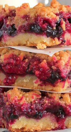 Raspberry Blueberry Crumb Cake