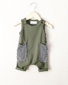 Baby boy harem romper olive green waffle knit baby boy outfit baggy stripes pockets tank romper baby baggy boy green harem knit olive outfit pockets romper stripes tank waffle frisuren step by step Baby Clothes Patterns, Cute Baby Clothes, Clothing Patterns, Baby Boy Summer Clothes, Handmade Baby Clothes, Modern Baby Clothes, Baggy Clothes, Cheap Clothes, Baby Outfits