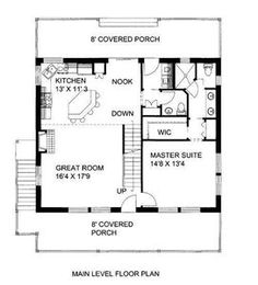 Cottage Floor Plans, Small House Floor Plans, Cabin Floor Plans, Barn House Plans, New House Plans, 1 Bedroom House Plans, Guest Cottage Plans, Micro House Plans, Square House Plans