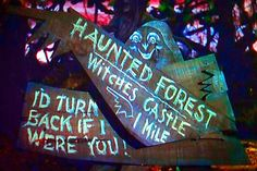 Haunted forest, I'd turn back if I were you