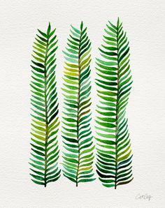 Seaweed Art Print + Thin Wooden Frame