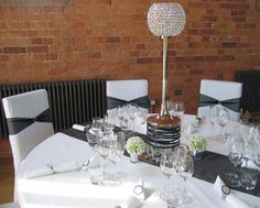 black and white table decorating ideas | ... Table runners Top Table & Cake Table swags Table decorations including