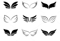Check out Wing icons by Microvector on Creative Market