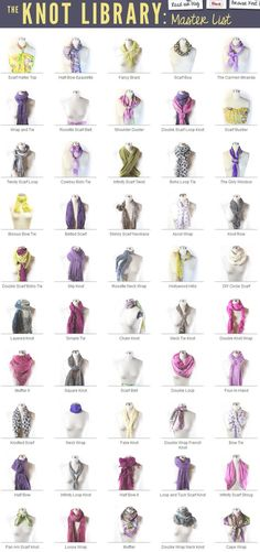 40 Ways to Tie Your Scarf Know - http://diyforlife.com/40-ways-tie-scarf-know/ - #Fashion, #Scarf, #ScarfKnot
