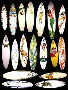 Surf boards I shaped and designed,