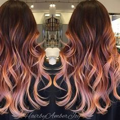 Rose Gold Auburn/ Dimension.... by @hairbyamberjoy  #rosegoldhair #behindthechair