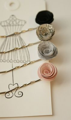 Roll your own paper flowers - lot's of tutorials on the web to show you how