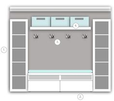 247346204506168795 ikea mudroom. 2 expedit bookcases, besta storage with drawers, lack shelf, and mogden triple hooks