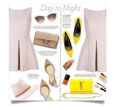 """""""Day to Night: Rompers"""" by anchilly23 ❤ liked on Polyvore featuring Alexander McQueen, Christian Louboutin, Gucci, rag & bone, Chloé, Yves Saint Laurent, NARS Cosmetics and Whiteley"""