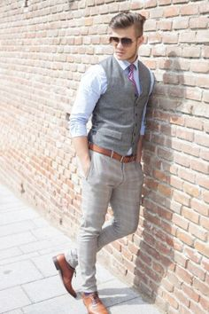 Handsome Man Dressed in Gray Vest
