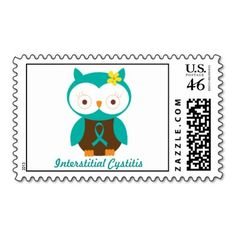 Interstitial Cystitis Owl Stamps
