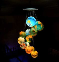 Do this with clear xmas balls! Whimsical World of Laura Bird: Beautiful Chandelier by Benoit Vieubled