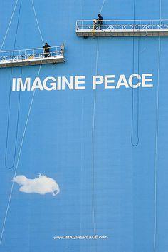 IMAGINE PEACE in Washington DC - January 2009 -- 6th Street & K Street NW, Washington DC, USA --- IMAGINE PEACE ☼ love, yoko