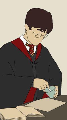 Harry Potter Stickers, Harry Potter Artwork, Harry Potter Drawings, Harry James Potter, Harry Potter Wallpaper, Harry Potter Aesthetic, Harry Potter Characters, Harry Potter Background, Desenhos Harry Potter