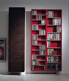 Triskom V 2 Leather Dvd Storage Cabinet With Doors By Wayfair