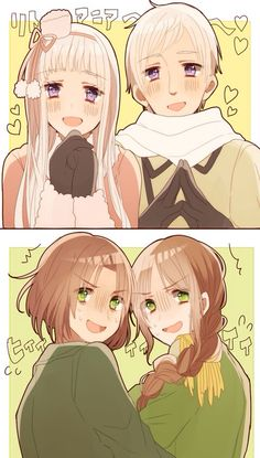 Hetalia and Nyotalia - Russia with Fem! Russia, and Lithuania with Fem! Lithuania : Become one with Moder Russia, da ? Lithuania Hetalia, Hetalia Russia, Latin Hetalia, Hetalia Fanart, Hetalia Anime, Hetalia Axis Powers, Manga, Love Pictures, Me Me Me Anime
