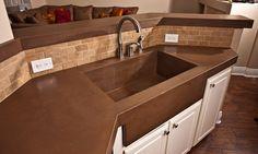 outdoor brown concrete countertop - Yahoo Search Results