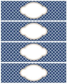 These really beautiful labels are designed with a Moroccan Tile Quatrefoil Pattern. These labels are free to download and are in editible PDF templates. Use them for just about anything including s…