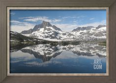 Banner Peak Reflected In Thousand Island Lake Photographic Print by Ronald A Dahlquist at Art.com