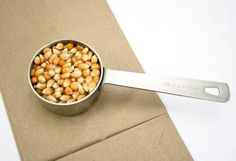 No More big pot mess!!!  Brown Bag Microwave Popcorn Secret Instructions #popcorn -- Add 1/3 cup popcorn kernels to a brown paper bag, fold the bag over twice then heat in a microwave — folded side down — for 2 minutes. THAT'S IT!