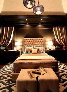 Bedroom - rich and warm - love the chocolate - gorgeous | Jason Dallas Design