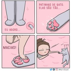 27 Hilariously Cute Relationship Comics That Will Make Your Day - Meh (me) - Cats Memes Chats, Cat Memes, Funny Memes, Cat Comics, Funny Comics, Funny Animal Comics, Cute Funny Animals, Funny Cute, Super Funny