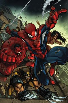 Avenging Spiderman cover by Joe Madureira