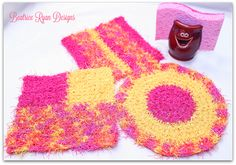 Cheery Kitchen Scrubby's If you love these free patterns… Favorite them on your Ravelry!! Click Here… Happy Mother's Day to all my fellow crochet friend's!! As a gif…