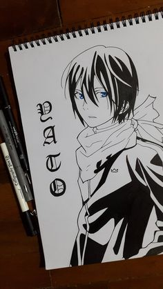 Yato Noragami by passthenoodles.de… on - Site Today Anime Noragami, Anime Naruto, Noragami Bishamon, Noragami Cosplay, Yato And Hiyori, Otaku Anime, Manga Anime, Anime Drawings Sketches, Anime Sketch