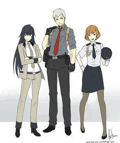 Naoto Shirogane, Akihiko Sanada and Chie Satonaka, Persona 3 and 4