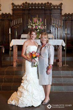 A wrist corsage that mirrors the Bride;s bouquet