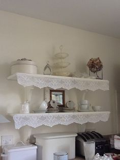 Old lace Refashioned Clothing, Cos, Entryway Tables, Shabby Chic, Weaving, Delicate, Space, Kitchen, Inspiration