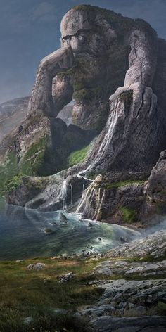 This is a new internal matte painting project at Good Morning. The image is a dramatized version of the Geiranger fjord with Norwegian folklore in center. We recreated the whole landscape digitally to enhance the epic fantasy feeling with a Scandinavian r…