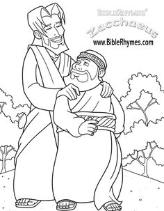 pin by on pinterest - Jesus Zacchaeus Coloring Page